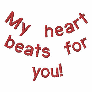 ¡Mis golpes de corazón para usted! Polo Enbordado