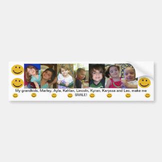 Mis Grandkids hacen que sonríe Pegatina Para Auto
