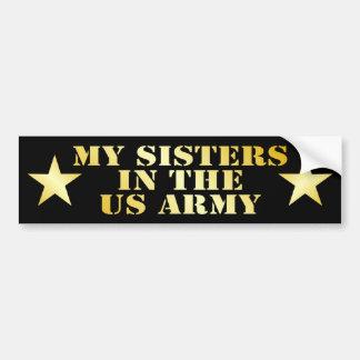 Mis hermanas en el ejército etiqueta de parachoque
