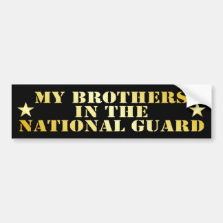 Mis hermanos en el Guardia Nacional Etiqueta De Parachoque