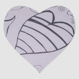 Mis hermosos diseños ..... pegatina en forma de corazón