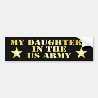 Mis hijas en el ejército pegatina de parachoque