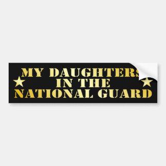 Mis hijas en el Guardia Nacional Pegatina De Parachoque