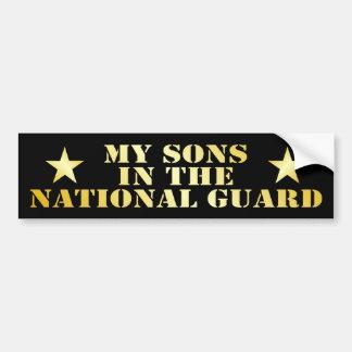 Mis hijos en el Guardia Nacional Pegatina De Parachoque