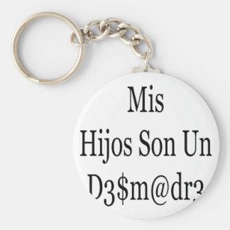 Mis Hijos Son Un Desmadre Basic Round Button Keychain