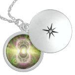 Mis horizontes - locket de la plata esterlina pendientes personalizados