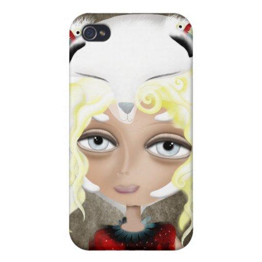Mis ideas blancas son caja protegida de la mota iPhone 4 protector