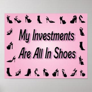 Mis inversiones están todas en poster de los zapat póster