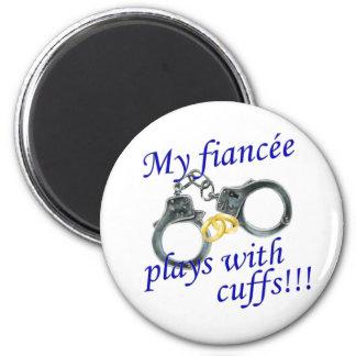 Mis juegos de Fiancée con los puños Imán Redondo 5 Cm