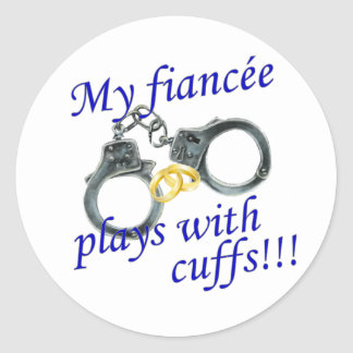 Mis juegos de Fiancée con los puños Pegatina Redonda