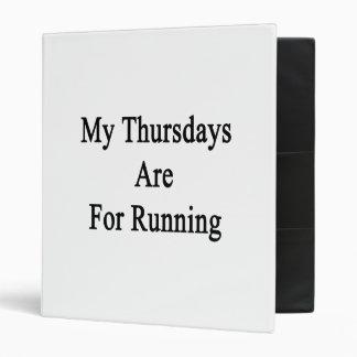 Mis jueves están para correr