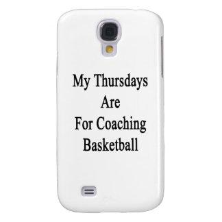 Mis jueves están para el baloncesto que entrena funda para galaxy s4