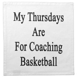 Mis jueves están para el baloncesto que entrena servilletas de papel