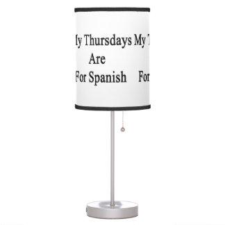 Mis jueves están para el español