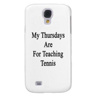 Mis jueves están para el tenis de enseñanza carcasa para galaxy s4