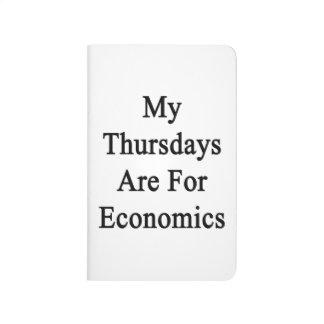 Mis jueves están para la economía cuaderno grapado