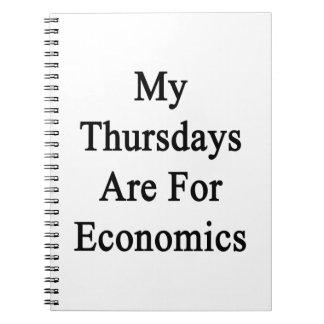 Mis jueves están para la economía libros de apuntes con espiral