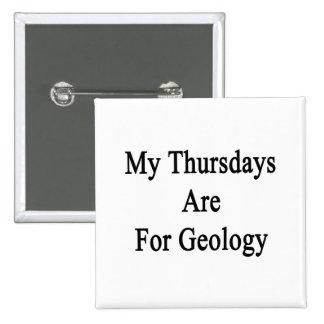 Mis jueves están para la geología chapa cuadrada 5 cm
