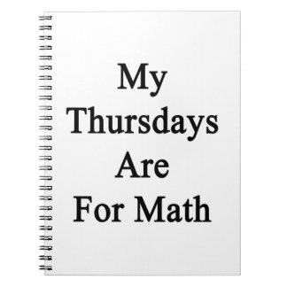 Mis jueves están para la matemáticas libro de apuntes con espiral