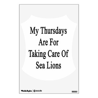 Mis jueves están para tomar el cuidado de leones vinilo decorativo