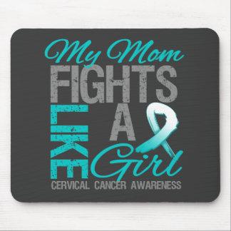 Mis luchas de la mamá como un cáncer de cuello del tapetes de raton