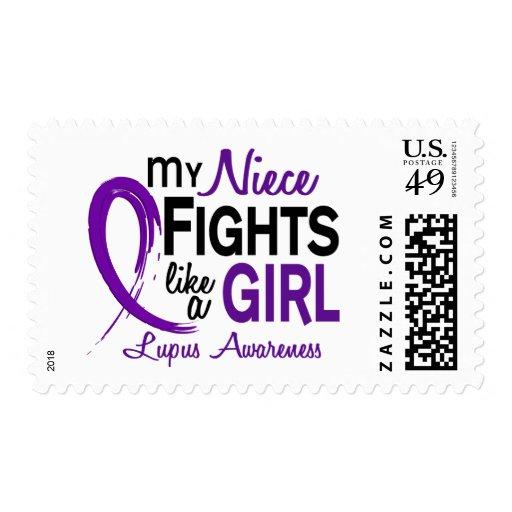 Mis luchas de la sobrina como un lupus del chica timbres postales