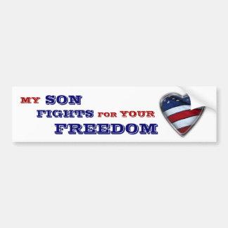 Mis luchas del hijo para su libertad pegatina de parachoque