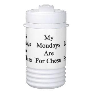 Mis lunes están para el ajedrez refrigerador de bebida igloo