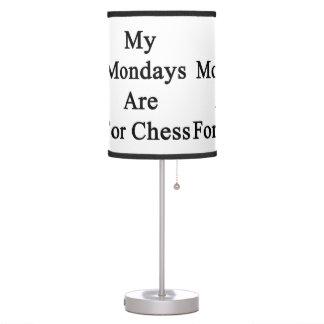Mis lunes están para el ajedrez