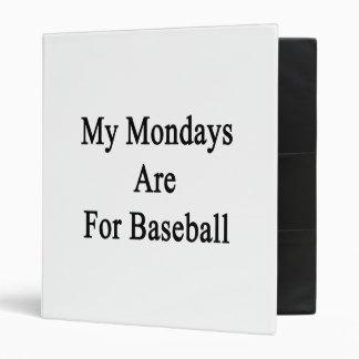 Mis lunes están para el béisbol