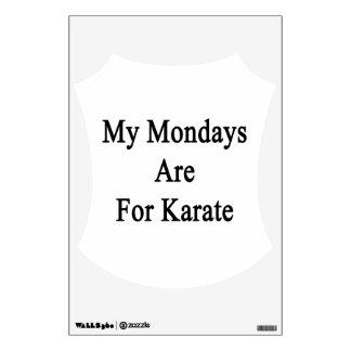 Mis lunes están para el karate
