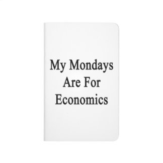 Mis lunes están para la economía cuaderno grapado