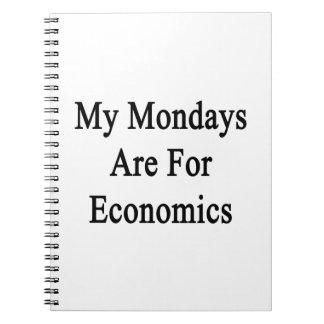 Mis lunes están para la economía libros de apuntes con espiral