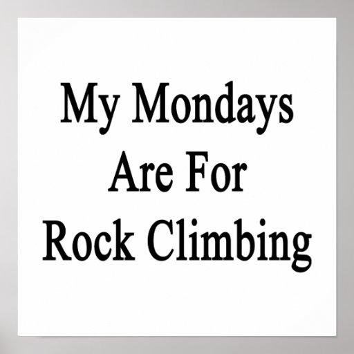 Mis lunes están para la escalada poster