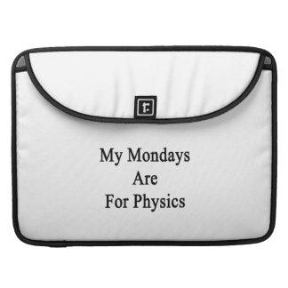 Mis lunes están para la física fundas para macbooks