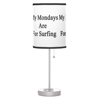Mis lunes están para practicar surf