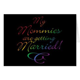 Mis mamás están consiguiendo casadas felicitacion
