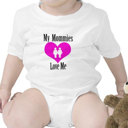 Mis mamás me aman traje de bebé