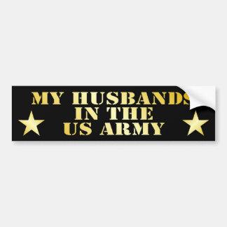 Mis maridos en el ejército pegatina de parachoque