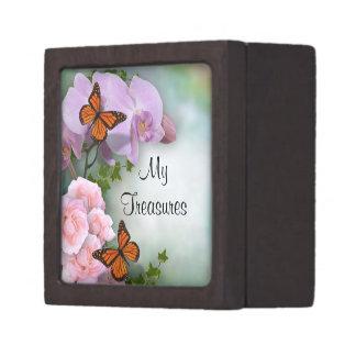 Mis mariposas de la caja de regalo de los tesoros caja de recuerdo de calidad