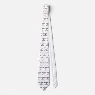 Mis martes están para el ajedrez corbata personalizada