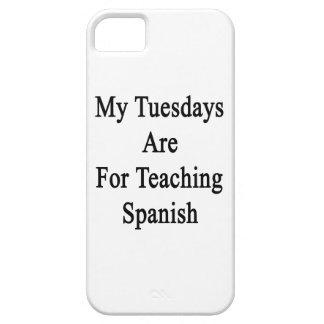 Mis martes están para el español de enseñanza funda para iPhone SE/5/5s