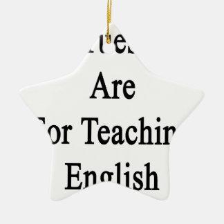 Mis martes están para el inglés de enseñanza adorno navideño de cerámica en forma de estrella