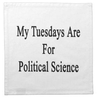 Mis martes están para la ciencia política servilletas de papel