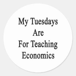 Mis martes están para la economía de enseñanza pegatina redonda