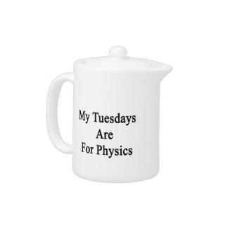 Mis martes están para la física
