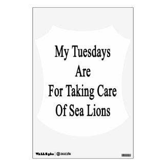 Mis martes están para tomar el cuidado de leones vinilo