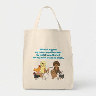 Mis mascotas bolsa tela para la compra