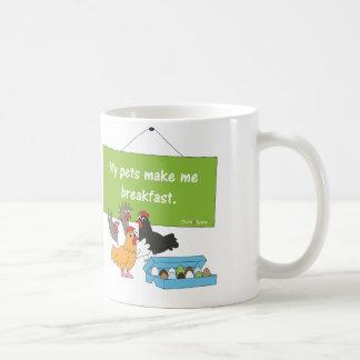 Mis mascotas me hacen la taza del desayuno