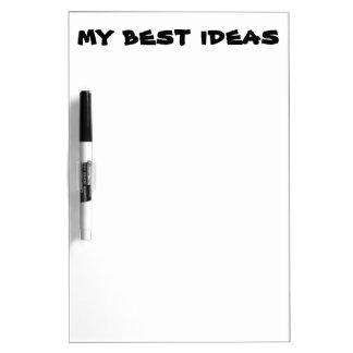 Mis mejores ideas secan al tablero del borrado pizarras blancas
